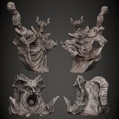 X_Demilich_n_Devil_Head_Gumroad_Cults3D.jpg Download STL file Demilich & Demon Head • 3D printing model, PorcSkulpt9