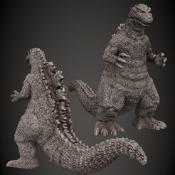 Godzilla_1954.jpg Download STL file Godzilla 1954 • 3D print design, PorcSkulpt9