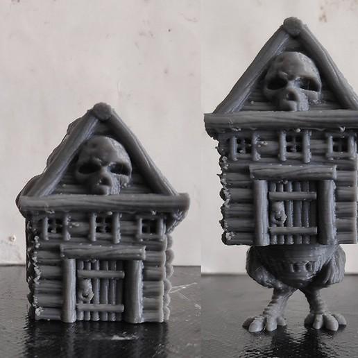 06_Baby_Yaga_n_Hut_Print.jpg Download STL file Baby Yaga • 3D print model, PorcSkulpt9