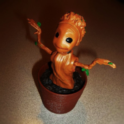 Download free STL file SOLAR dancing GROOT • 3D printable design, atarka3