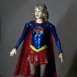 Free Supergirl articulated doll 3D printer file, atarka3