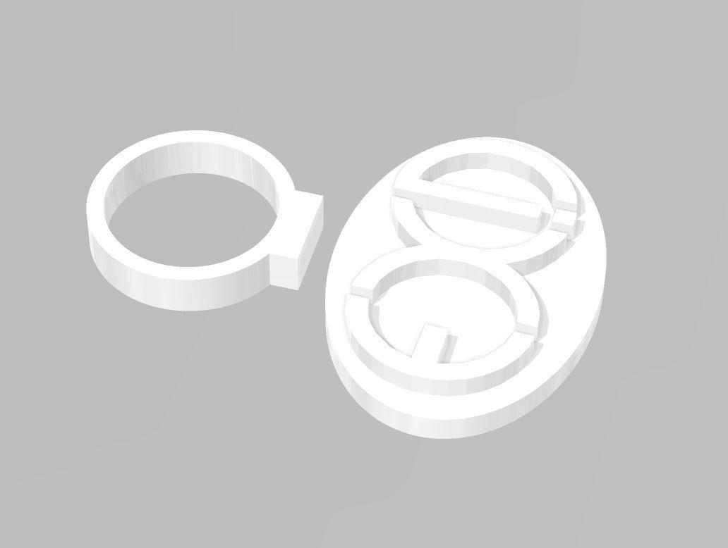 stamp.JPG Download free STL file EXID Logo Cookie Stamp • Template to 3D print, atarka3