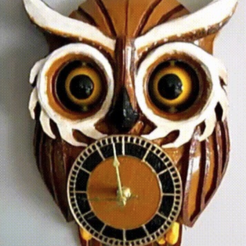 Free 3D model OWL CLOCK with moving eyes, atarka3