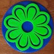 Free stl Flower Coasters for Mother's Day, barb_3dprintny