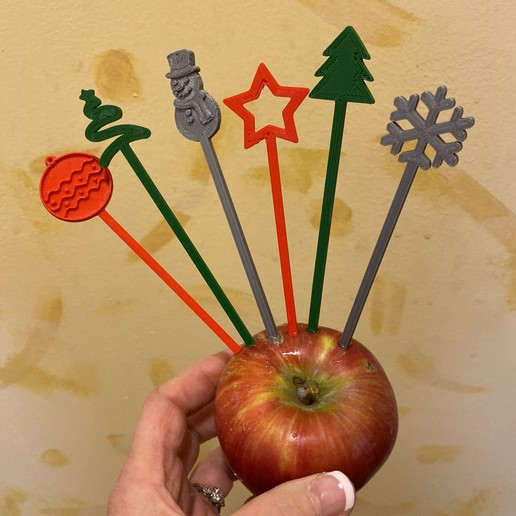Download free STL file Holiday Party Cocktail Stirrers - Swizzle Sticks • 3D printer object, barb_3dprintny