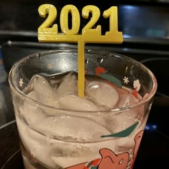 2021-2.jpg Download free STL file 2021 Party by yourself Picks and Swizzle Sticks • 3D print object, barb_3dprintny
