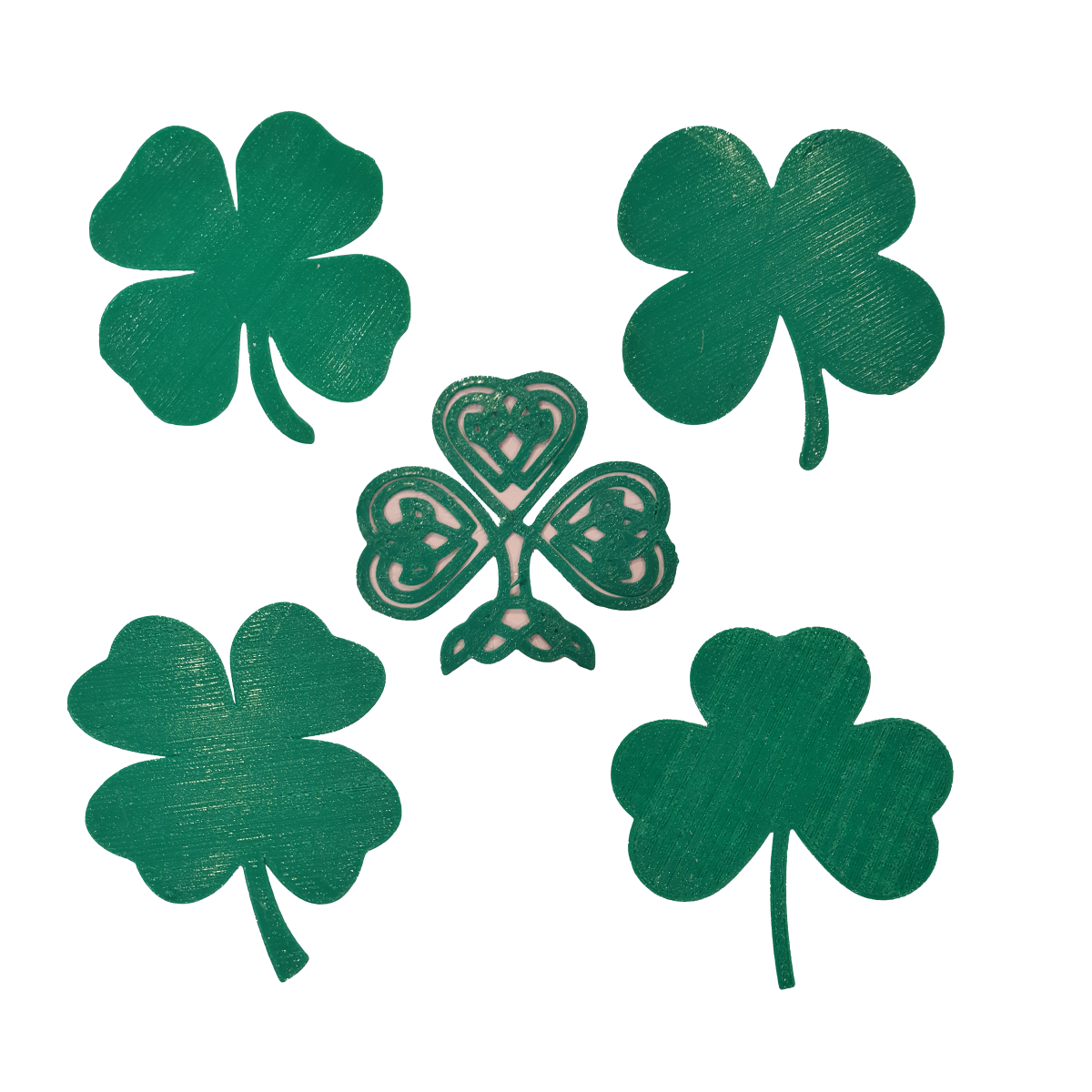 Download Free 3d Printer Designs Shamrock Or 4 Leaf Clover Cults