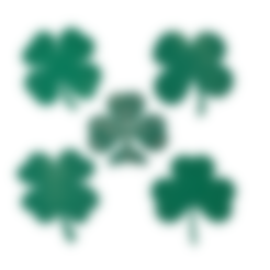 shamrock-3dprintny.stl Télécharger fichier STL gratuit Trèfle ou trèfle à 4 feuilles? • Modèle à imprimer en 3D, barb_3dprintny