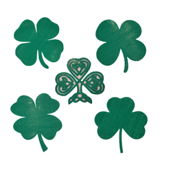 Free 3d printer designs Shamrock or 4 Leaf Clover ?, barb_3dprintny