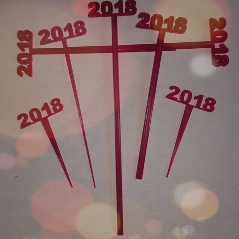 Download free STL file 2018 Graduation Party Picks and Swizzle Sticks • Object to 3D print, barb_3dprintny