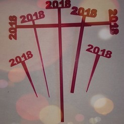 Download free STL 2018 Graduation Party Picks and Swizzle Sticks, barb_3dprintny