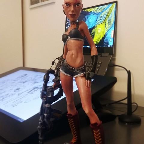 Télécharger plan imprimante 3D punk girl, tutus