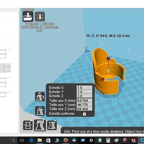 nmax.jpg Download free STL file Fork protector Nmax • Model to 3D print, robroy