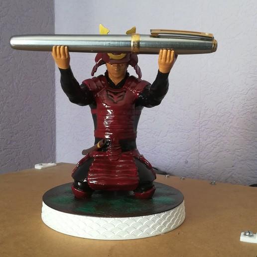 Download free 3D printer files Samurai pen servant, robroy