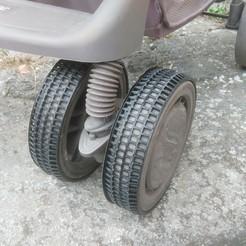 3D printing model Non-slip wheel for stroller, seb2583