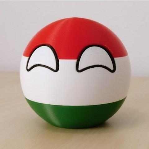 Free stl Hungaryball, DanielJosvai