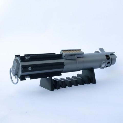Descargar modelos 3D gratis Soporte de exhibición horizontal para empuñadura de sable de luz, DanielJosvai