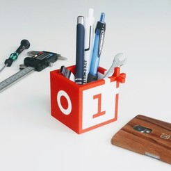 Free stl OnePlus desktop pen holder, DanielJosvai