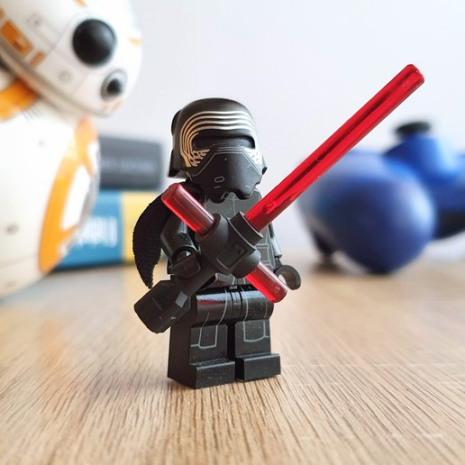 Download free 3D model Kylo Ren LEGO Lightsaber, DanielJosvai