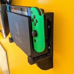 IMG_20200910_141013.jpg Download STL file Nintendo Switch Minimalist Dock Wall Mount • 3D print model, JosephJohnston