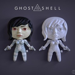 GhostITS.jpg Download free STL file Kusanagi Motoko - Ghost in the Shell • 3D printer design, RedMutant