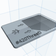 Download free 3D printer files ShredderCard Herb Grinder by 420ThreeD, 420ThreeD
