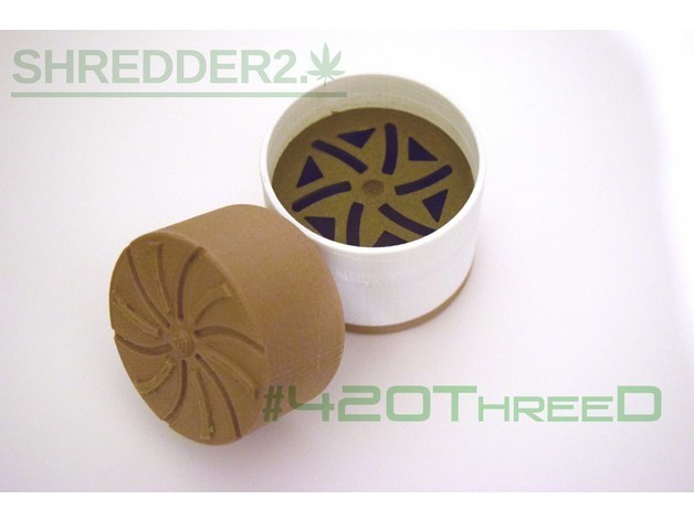 f84fd989946e4f85c9f5a793c2ed63b0_preview_featured.jpg Download free STL file Toothless Herb Grinder 2.0 By 420ThreeD • 3D printable object, 420ThreeD