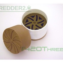 Free 3D print files Toothless Herb Grinder 2.0 By 420ThreeD, 420ThreeD