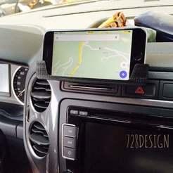 i6oncar.jpg Download free STL file iPhone 6 holder on VW Tiguan • 3D printable template, Jameschu