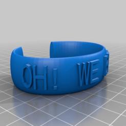 Download free 3D printer designs My Customized Ellipse Message Band - OH! WE BEST! - A59, B48, Jameschu