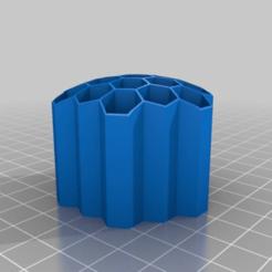 Télécharger fichier STL gratuit Porte-crayons en nid d'abeille-5-2-2-46 • Design pour impression 3D, Jameschu