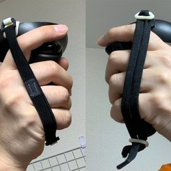 Download free 3D printer designs Oculus Quest Controller Lanyard Ring for shock cord or clothing elastic, CyberCyclist