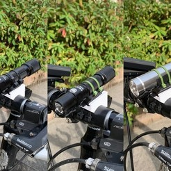 Free stl Snap-fit Mount for Flashlights (15mm-40mm), CyberCyclist