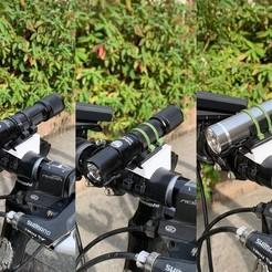 modelo stl gratis Montaje a presión para linternas (15mm-40mm), CyberCyclist