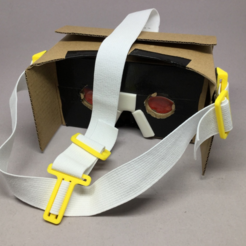 Download free STL files  HeadStrap for CardBoard VR Goggles, CyberCyclist