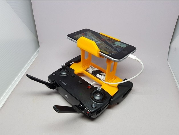 960ae216cb95a6c8c387d381c6971a69_preview_featured.jpg Download free STL file MAVIC Air controler foldable mount for iPhone 6/iPad mini 4 • Template to 3D print, CyberCyclist