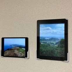 Download free STL Universal Tablet Wall Mount with Stapler, CyberCyclist