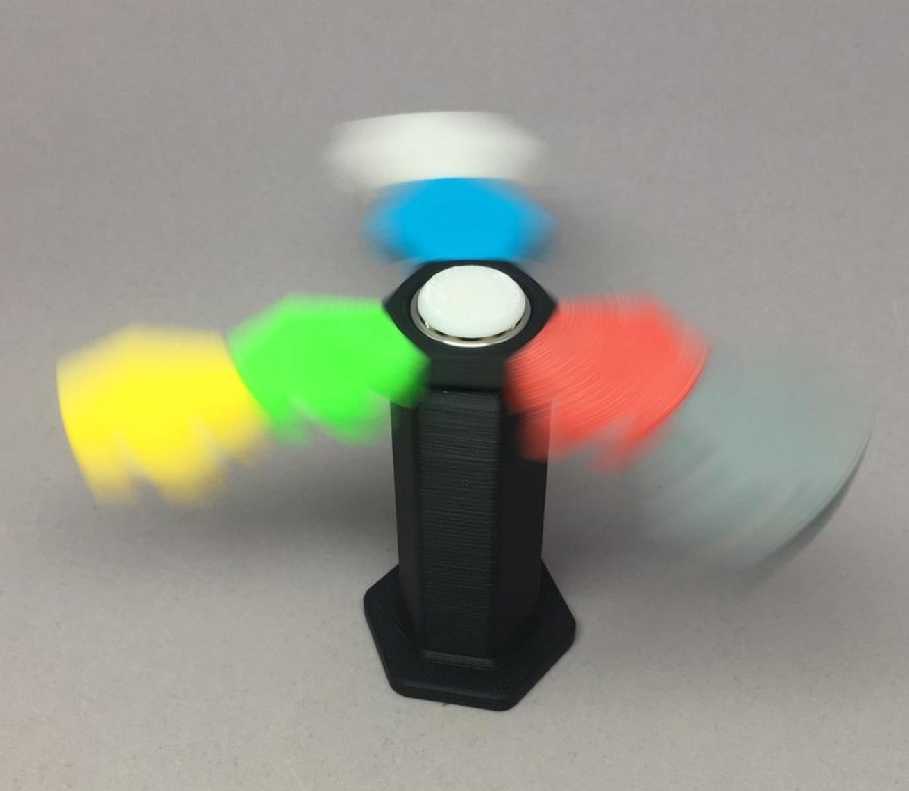 Capture d'écran 2017-05-30 à 19.20.45.png Download free STL file Hex Tile Fidget Spinner • 3D printing object, CyberCyclist