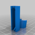 sample_holder_12.2_.png Download free STL file EDC Flashlights Holder for Glasses • 3D printing template, CyberCyclist