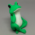 Download free STL file Bored Frog Colorized • 3D printable template, CyberCyclist
