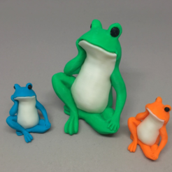 Download free STL files Bored Frog Colorized, CyberCyclist