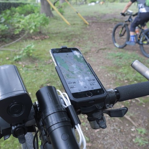 Download free STL file iPhone XS/6s Holder for GARMIN Mount (eTrex/Oregon/Colorado Series) • 3D printable model, CyberCyclist