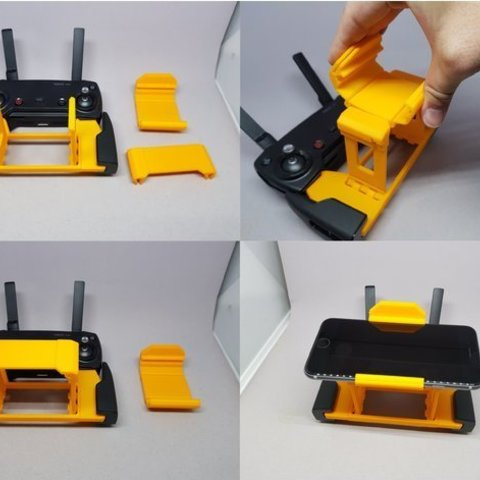 43e8f9e5e7a25315ca08ee6ba3fc0584_preview_featured.jpg Download free STL file MAVIC Air controler foldable mount for iPhone 6/iPad mini 4 • Template to 3D print, CyberCyclist
