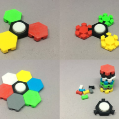 Download free STL files Hex Tile Fidget Spinner, CyberCyclist
