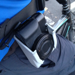 Free STL SONY DSC-RX100 holster with belt loop, CyberCyclist