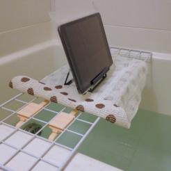 Free 3D printer model  Bathtub Caddy (using wire mesh panel), CyberCyclist
