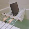 Free 3d printer model  Bathtub Caddy (using wire mesh panel), CyberCyclist