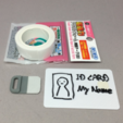 Free 3d printer designs Minimal Card Holder, CyberCyclist