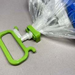 Télécharger fichier STL gratuit Poignée de sac à provisions réglable • Modèle imprimable en 3D, CyberCyclist