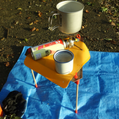 Download free 3D print files Mini Table for Solo Camping, CyberCyclist